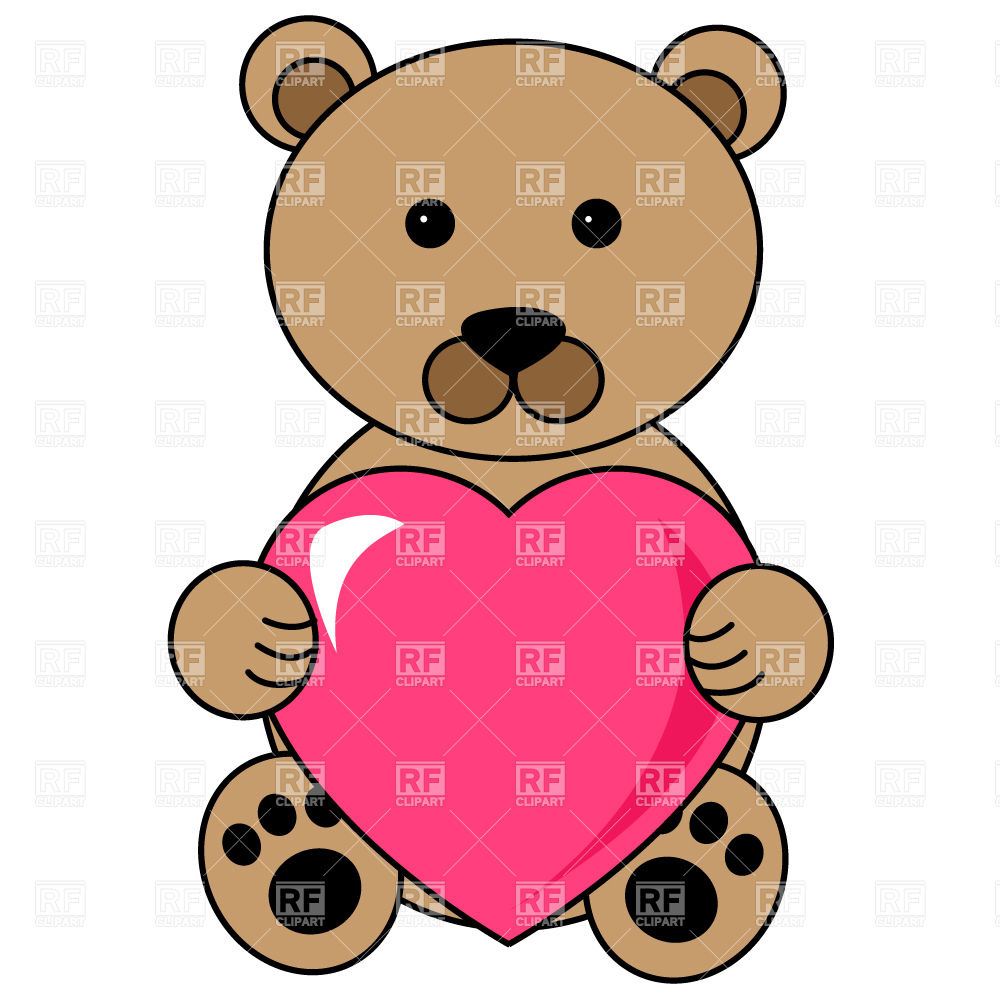 Teddy bear with heart Stock Vector Image.