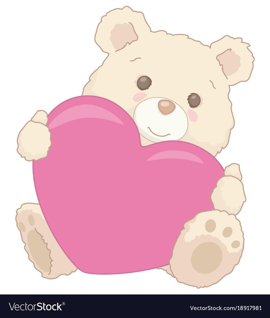 Teddy bear holding heart clipart » Clipart Portal.