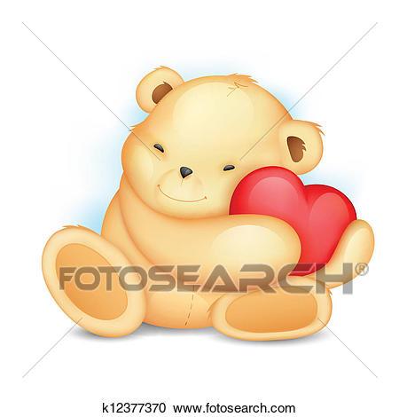 Teddy Bear with Heart Clipart.