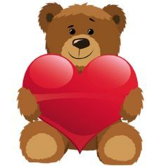 Bear with heart clipart » Clipart Portal.