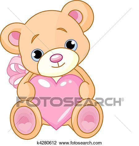 Bear with heart Clipart.