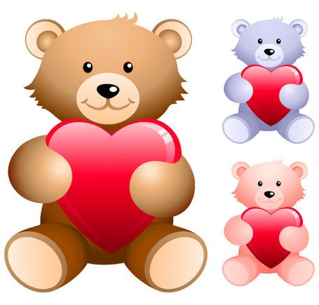 Free Teddy Bear Heart Clipart and Vector Graphics.