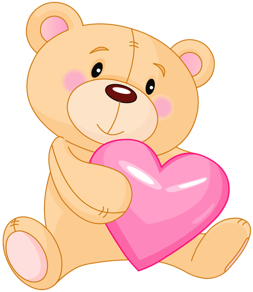 Teddy bear with heart clipart 2.