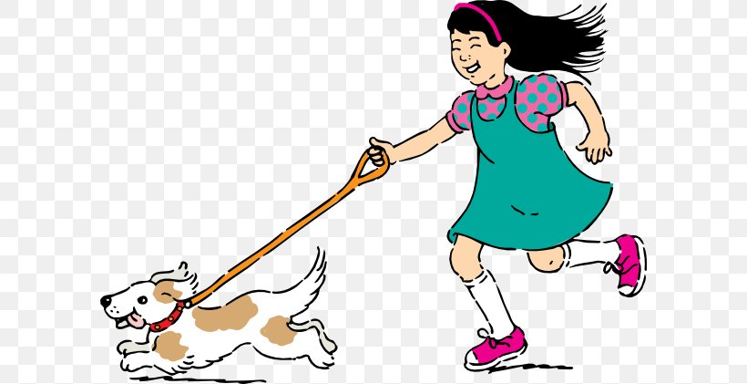 Dog Walking Clip Art, PNG, 600x421px, Dog, Arm, Art, Artwork.