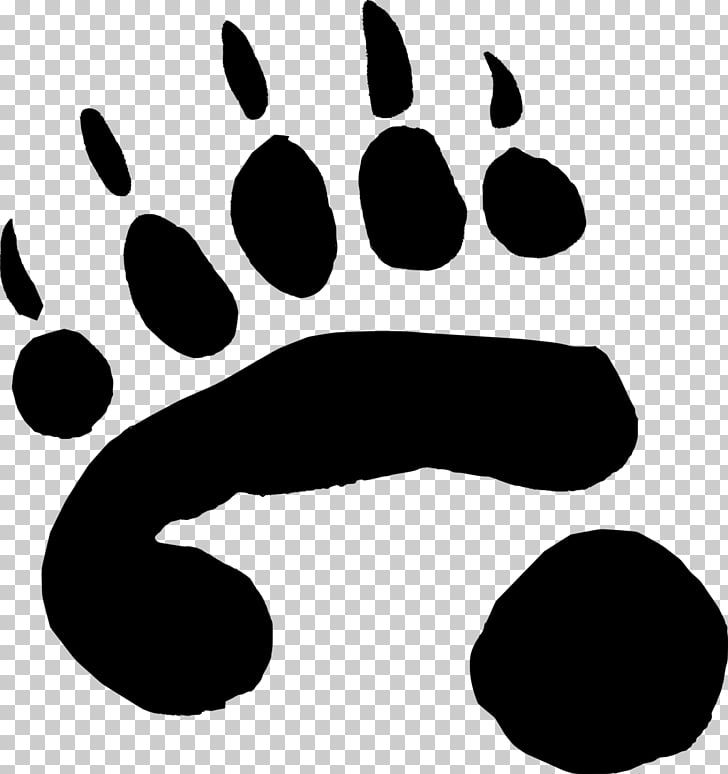 Giant panda Bear Cat Panda Paws, paw, blackk bearpaw.