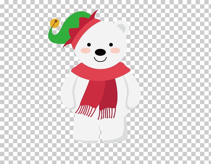 Santa Claus Teddy bear Christmas decoration Illustration.