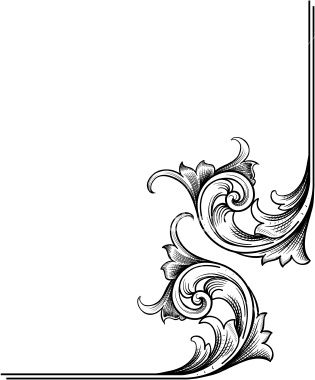 Corner Scrollwork Stock Illustration.