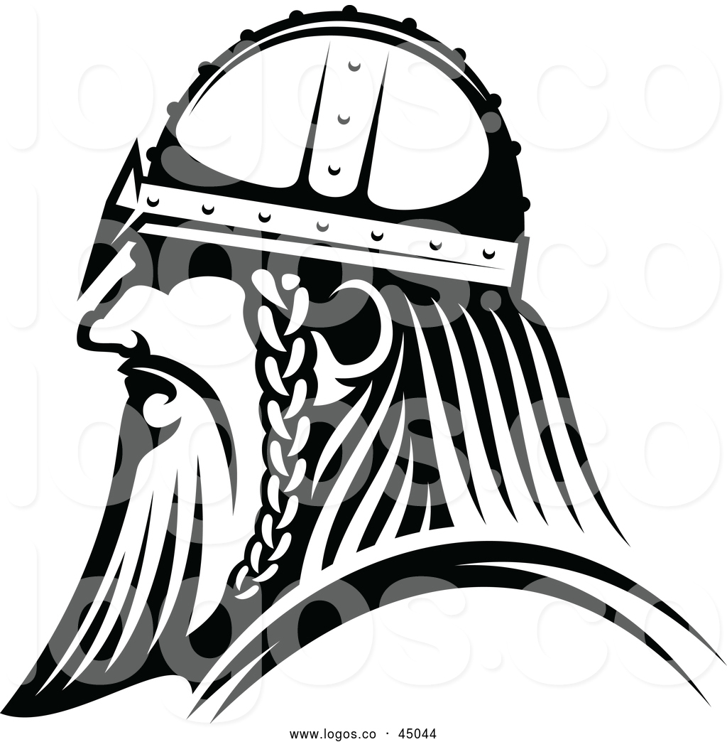 Vector Logo of a Determined Viking Warrior with Intimidating.