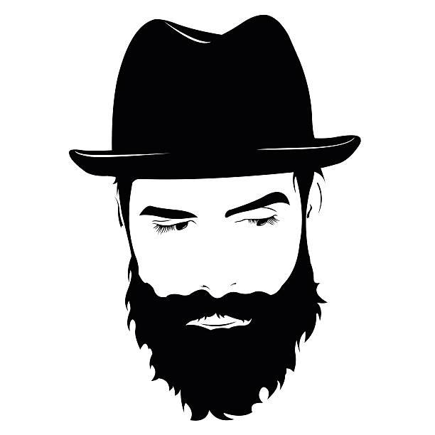 1580 Beard free clipart.