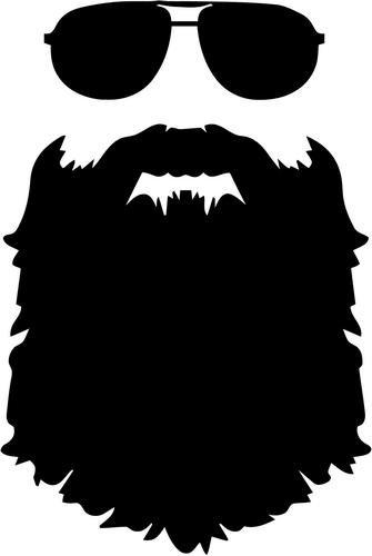 Beard Sunglasses Vinyl Decal Sticker Bumper Car Truck Window.