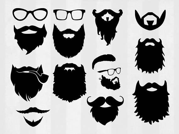Beard SVG Bundle Beard clipart Beard cut files Hipster svg.