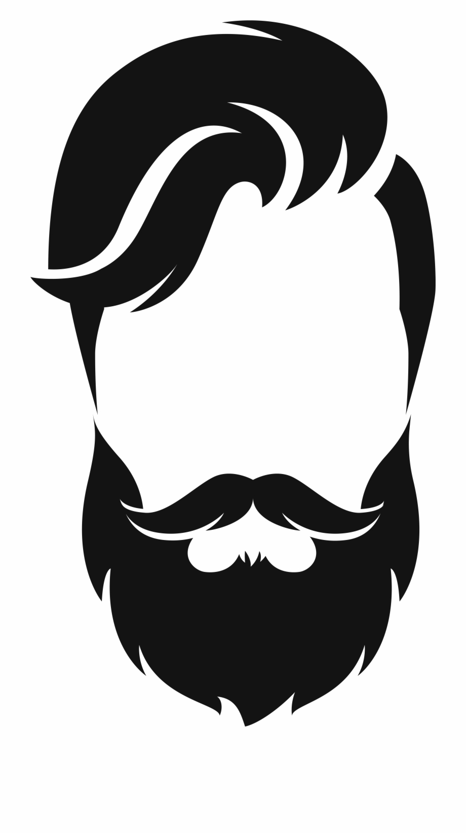 Beard Silhouette Png.