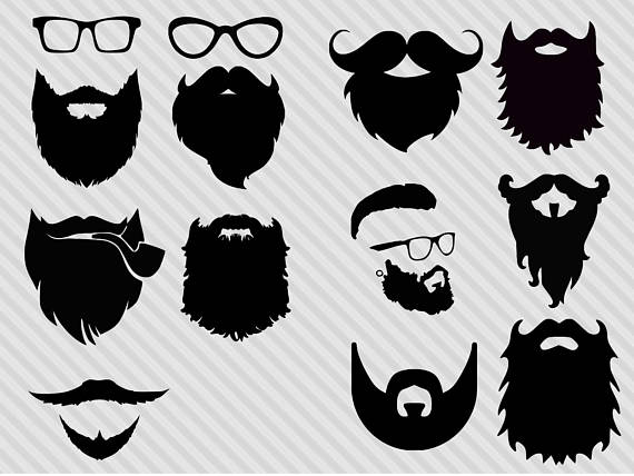96+ Beard Clipart.