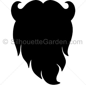 Tentacle beard clipart.
