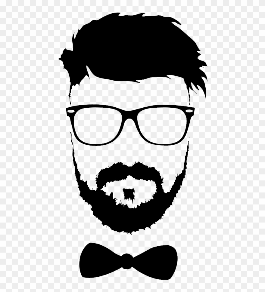 Hairstyle Beard Moustache Glasses Png File Hd Clipart.
