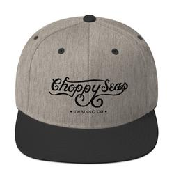 CHOPPY SEAS Wool Blend Snapback Hat.