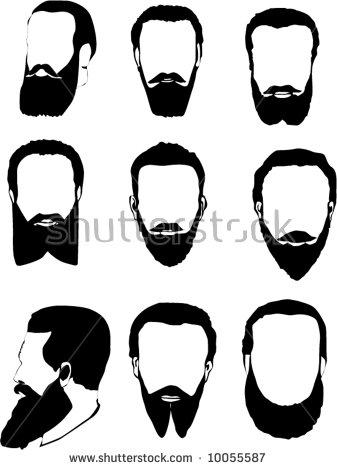 Beard Silhouettes Stock Photos, Royalty.