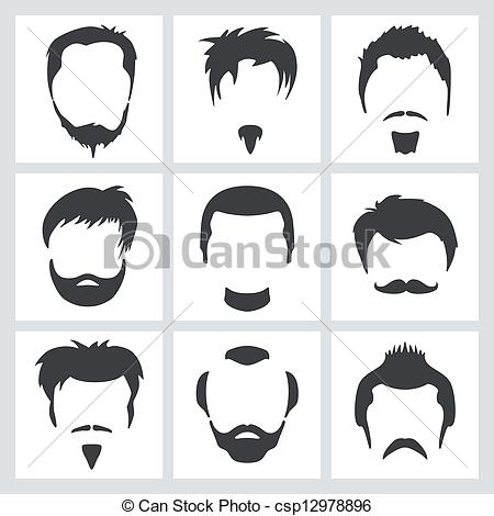 EPS Vectors of Male hair graphics.
