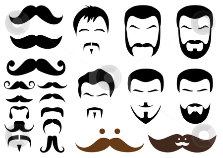 Beard clip art design.