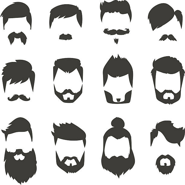 Beard And Mustache Clipart.