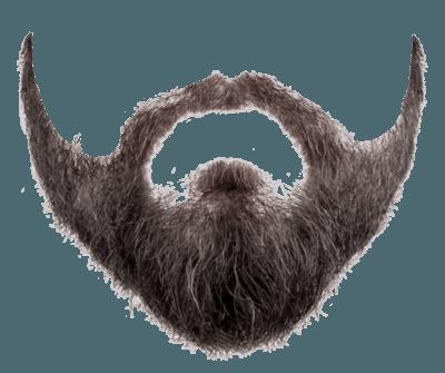 full face beard transparent background.
