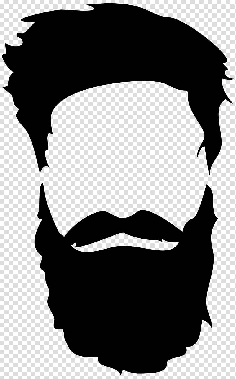 Beard Silhouette , beard and moustache transparent background PNG.