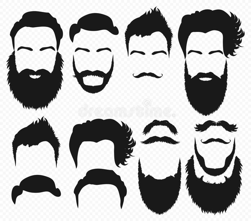 Beard Silhouette Stock Illustrations.