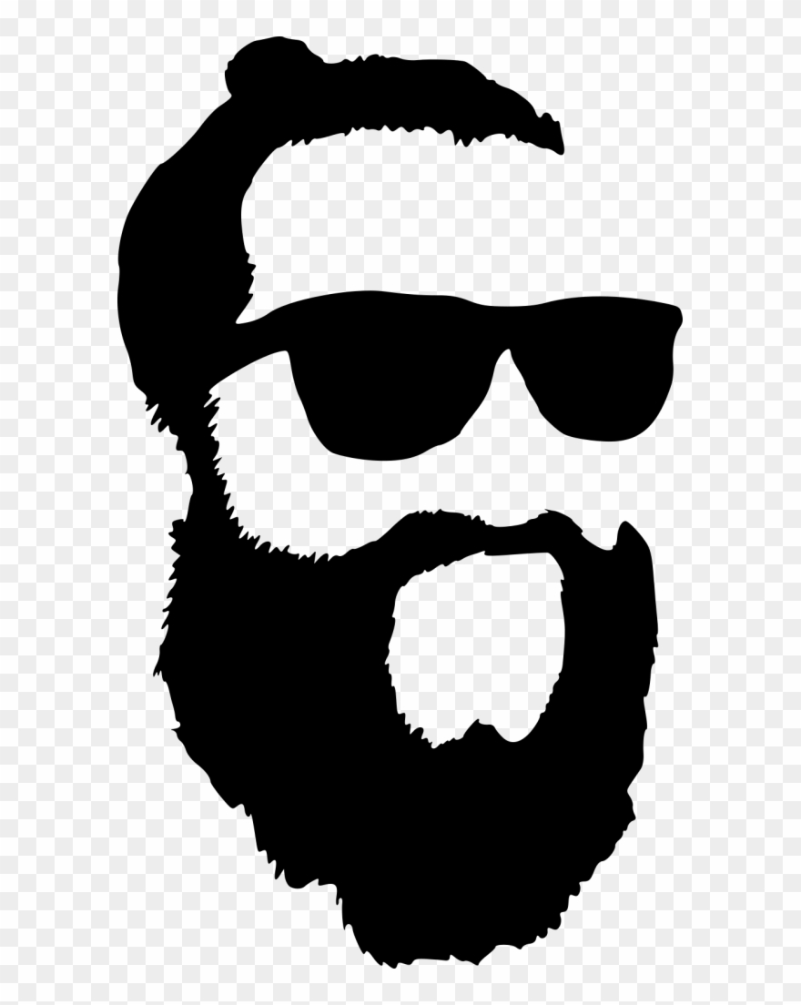 Hipster With Sunglasses Silhouette Png.