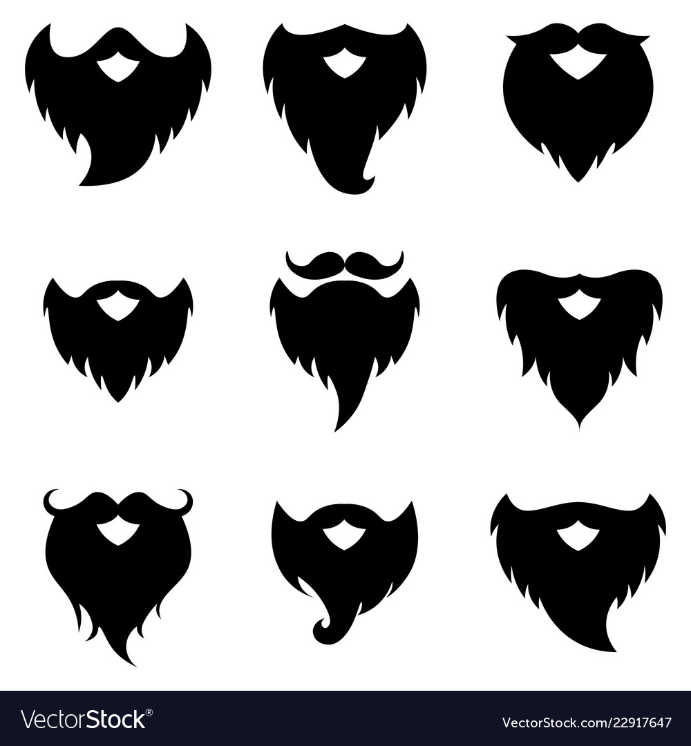 Beard and moustache silhouettes.