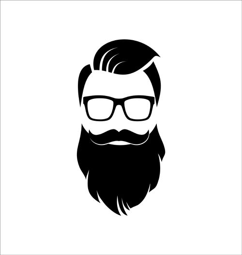 Beard Silhouette Vector at GetDrawings.com.