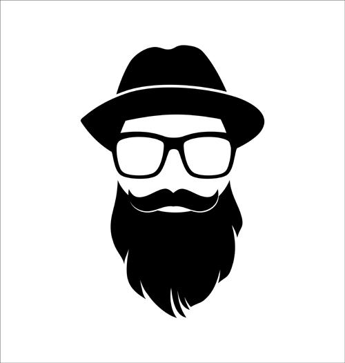 Beard Styles Clipart.