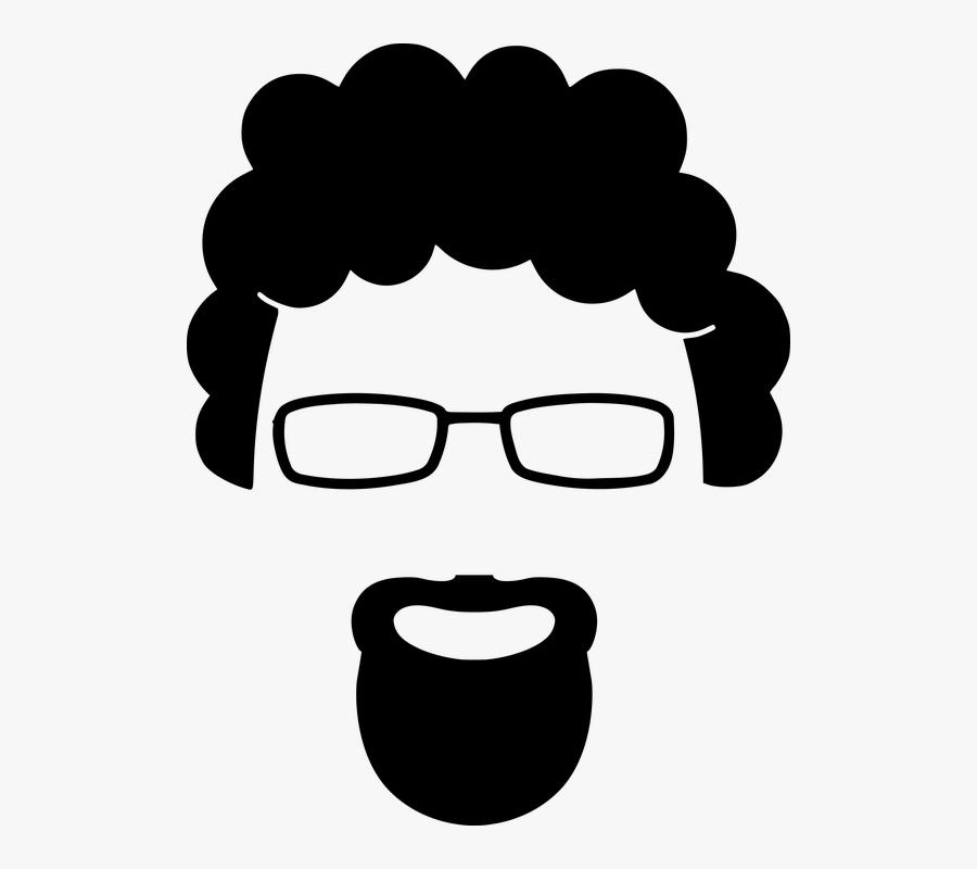 Goatee Beard Silhouette.