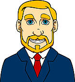 Clipart of Senior man with beard k13973515.