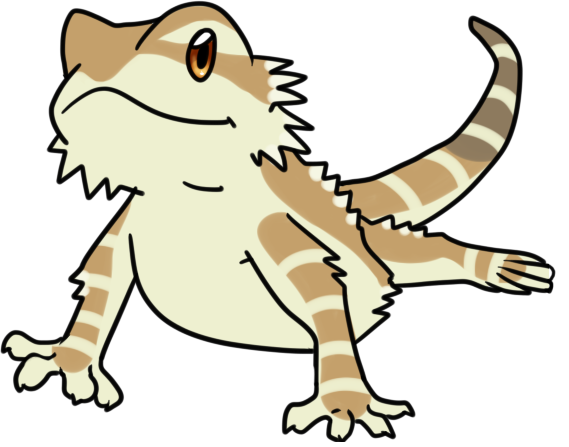 Bearded dragon clipart.