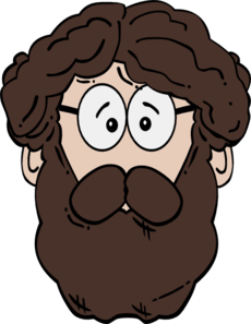 Bearded man clipart.