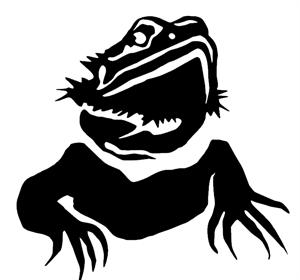 BuyCheapStickers.com. Bearded Dragon Portrait Decal.