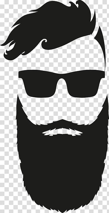 Bearded man art, Beard Man Animation, Man Avatar transparent.