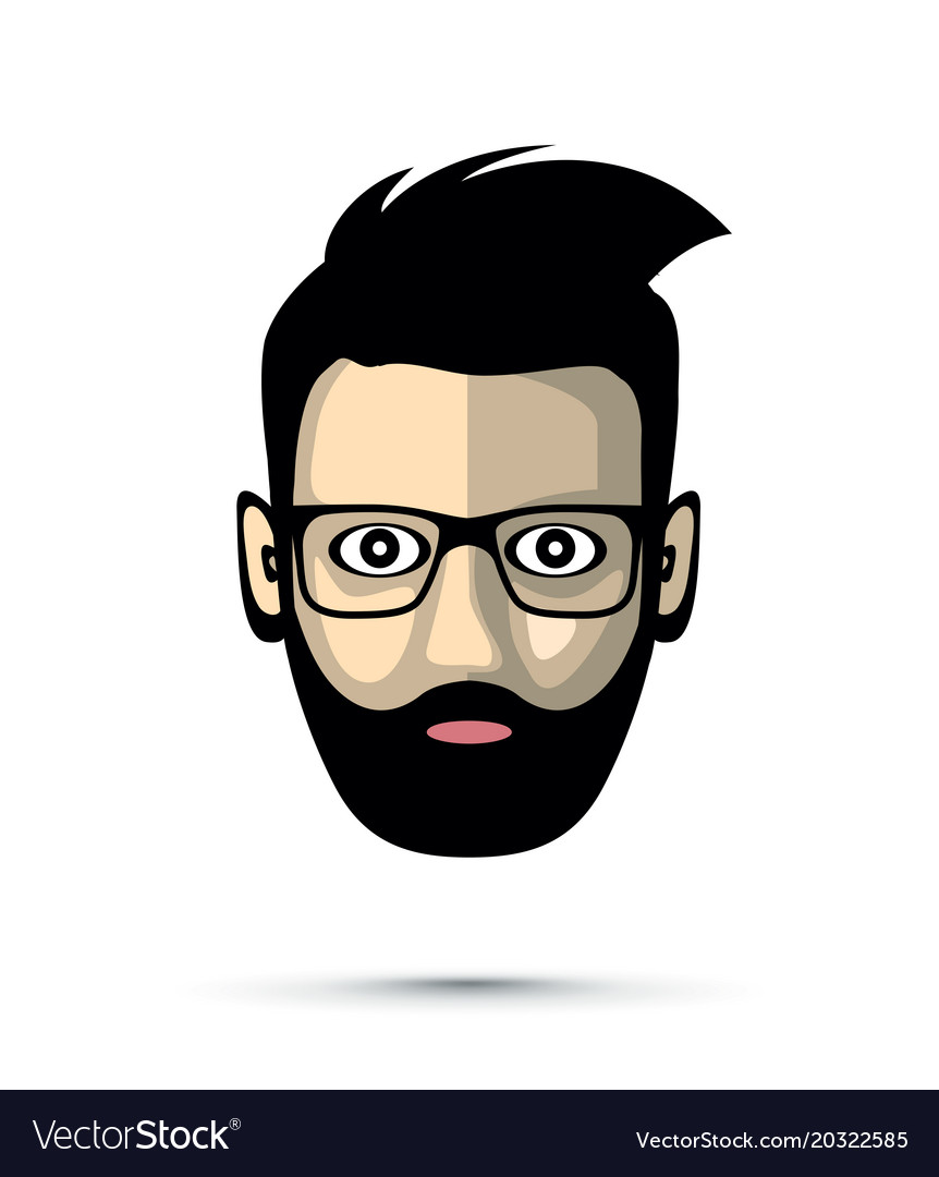 Bearded man with sunglasses icon.