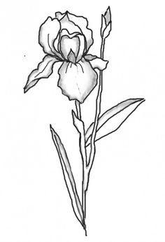 Blue Iris Flower Clip Art.