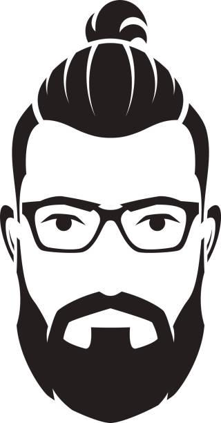 Beard Man Bun Clipart & Free Clip Art Images #27603.
