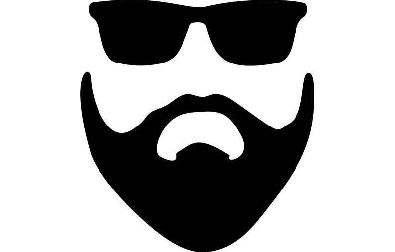 Beard Style Face Male Hairstyle Handsome Mustache Bearded Man .SVG .EPS  .PNG Vector Space Clipart Digital Download Circuit Cut Cutting.