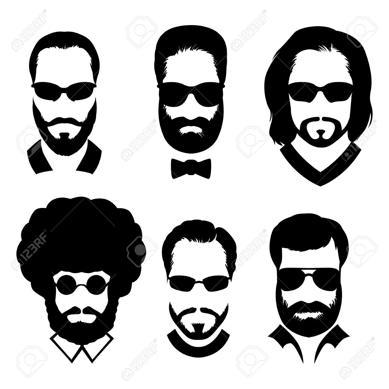 Image result for man with beard clipart.