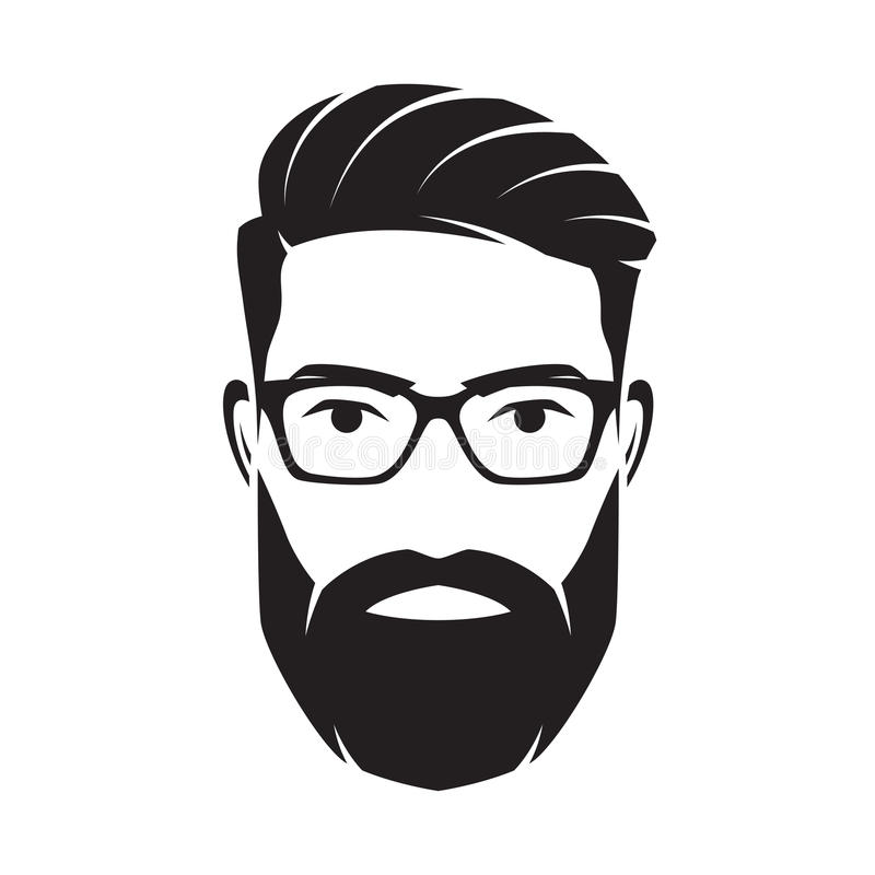 Bearded Men Stock Illustrations.