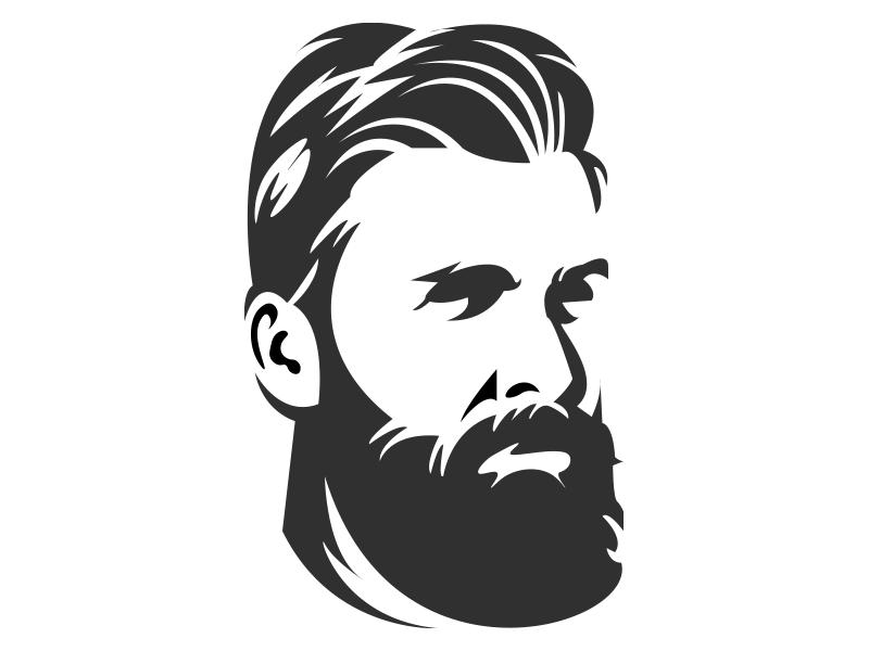 Bearded Man by Marcelo Barros on Dribbble.