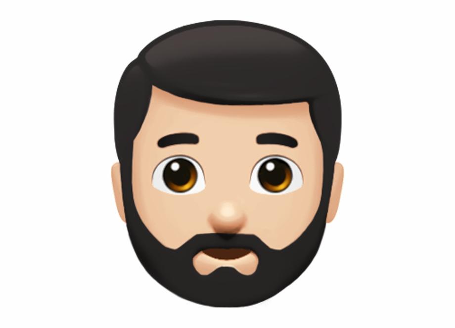 Bearded Man Emoji From Apple.