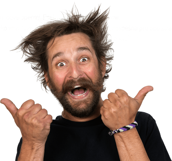 Download Free png very happy bearded man.
