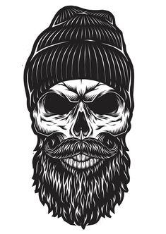 50 Best Beard skull images in 2019.