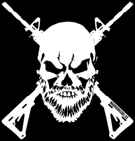 Bearded Skull & Guns Decal.