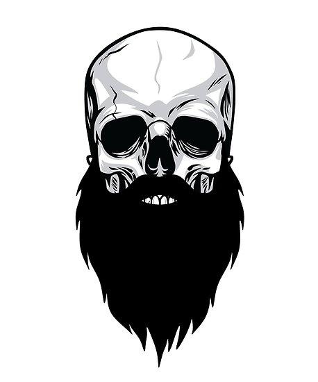 'Bearded skull' Poster by bkaric.