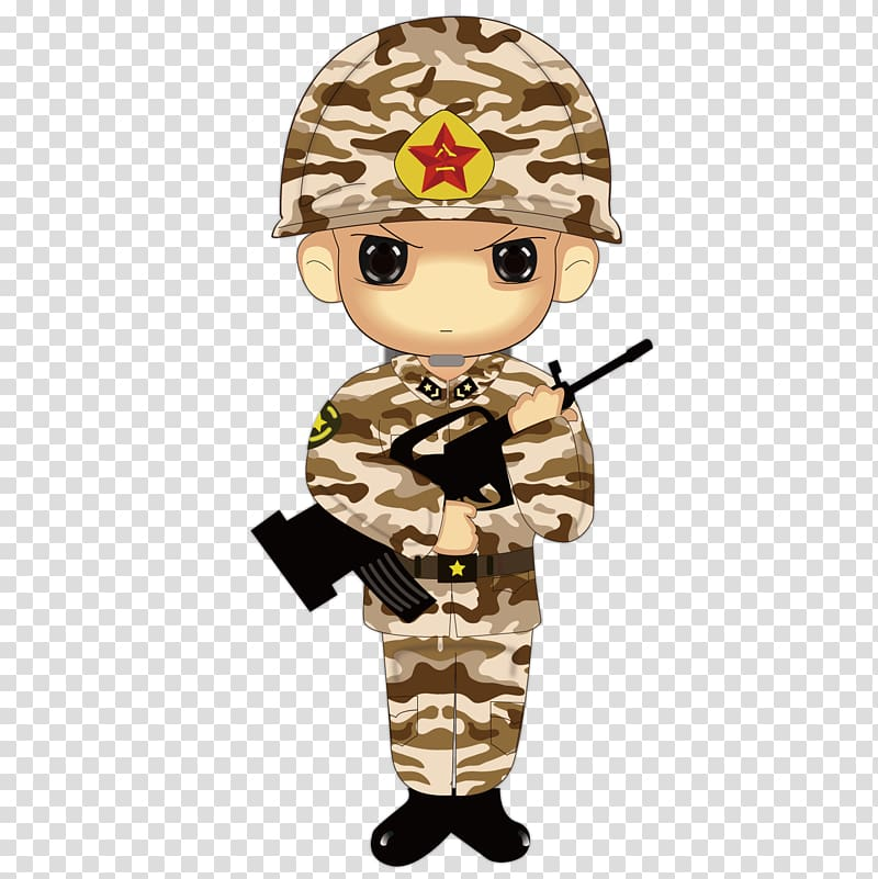 Cartoon Soldier, Cute soldier brother transparent background.
